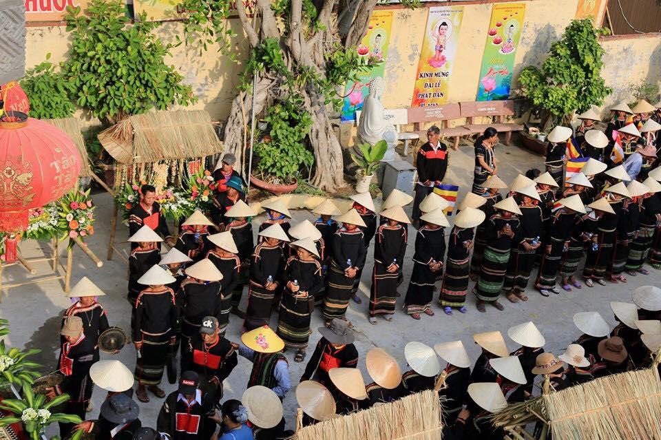 Celebrating the Buddha's birthday at Western Highland, Vietnam